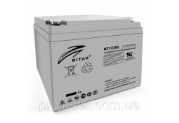 Аккумулятор для ИБП Ritar RT12280, Gray Case, 12V 28Ah ( VRLA AGM )