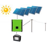 Резервная система на солнечных батареях с возможностью подключения Зеленого тарифа - 10 кВт