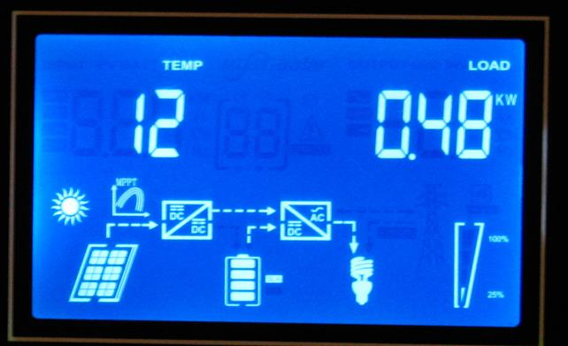 Обзор  Q-Power QPV4048L: меню температура